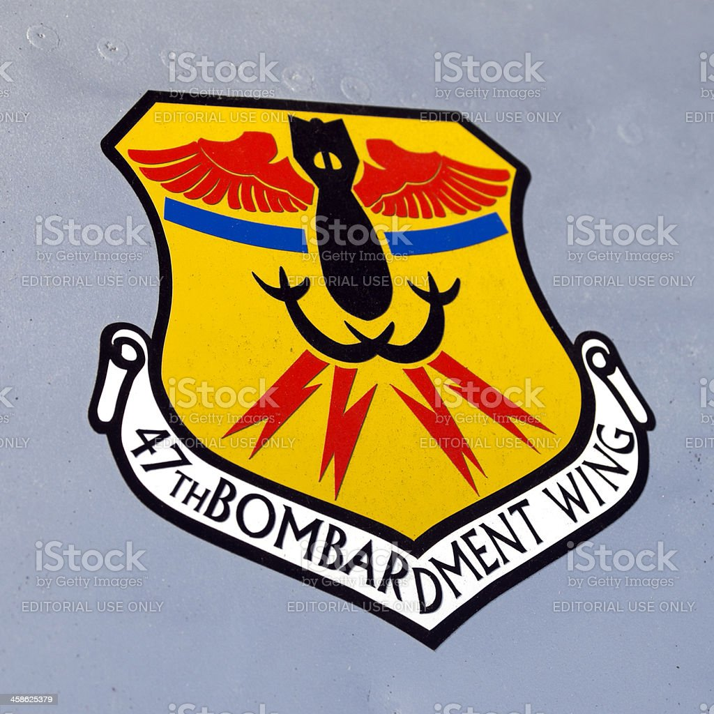USAF 47th Bombardment Wing insignia on an aircraft stock photo
