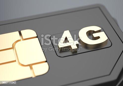 istock 4g SIM-card 960711042