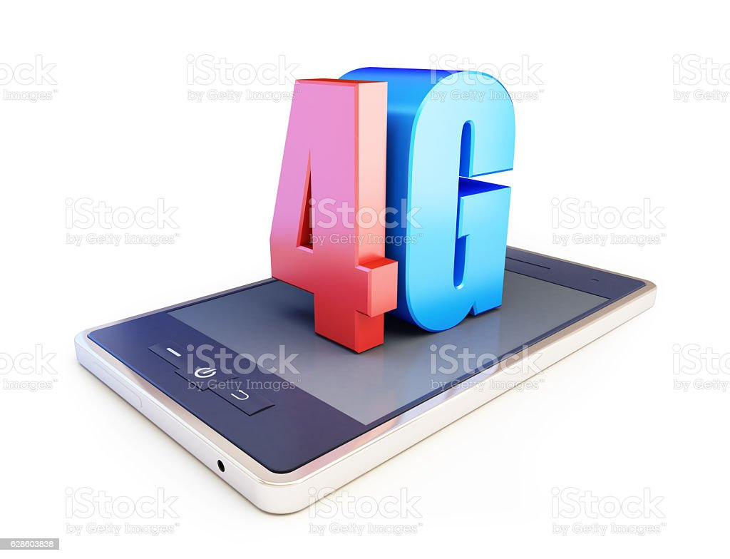 4g smartphone ang text 4g, 4G sign, stock photo