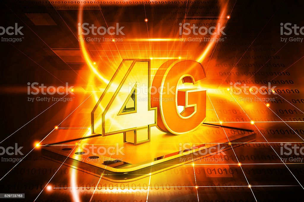 4g tablet pc stock photo
