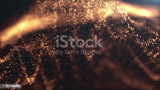 846933050 istock photo 4k Beautiful Bokeh and Light Beams, Gold Particles Background 1190168480