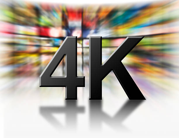 4 k-auflösung-konzept. - 4k led tv stock-fotos und bilder