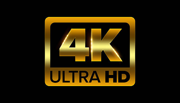 4k ultra hd icon 4k ultra hd icon with clipping path 4k resolution stock pictures, royalty-free photos & images