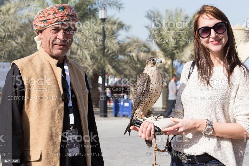4th International Festival of Falconry, Abu Dhabi, UAE stock photo