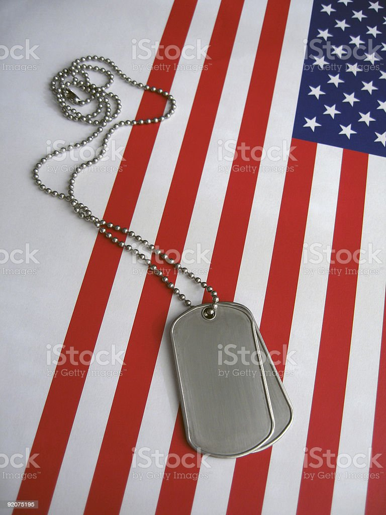 4th July Dog Tags royalty-free stock photo