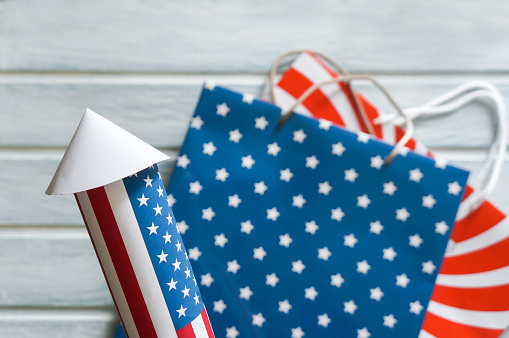 4th July holiday shopping concept