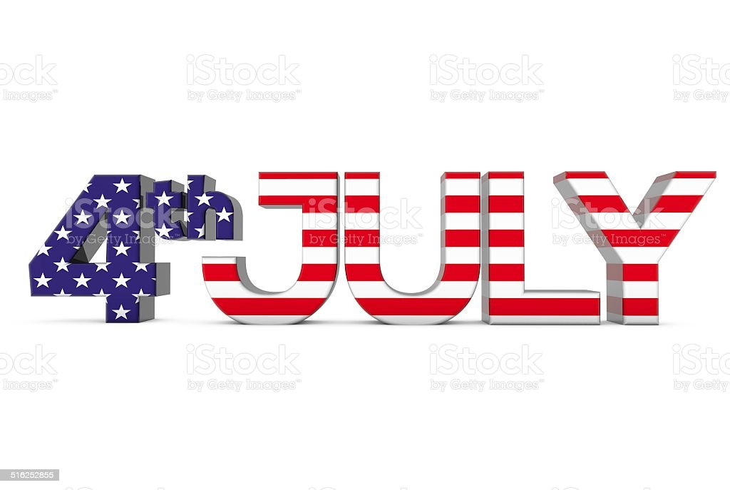 4th July independance day stock photo