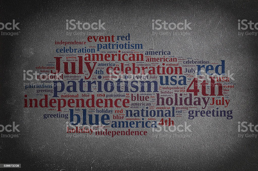 4th July. stock photo