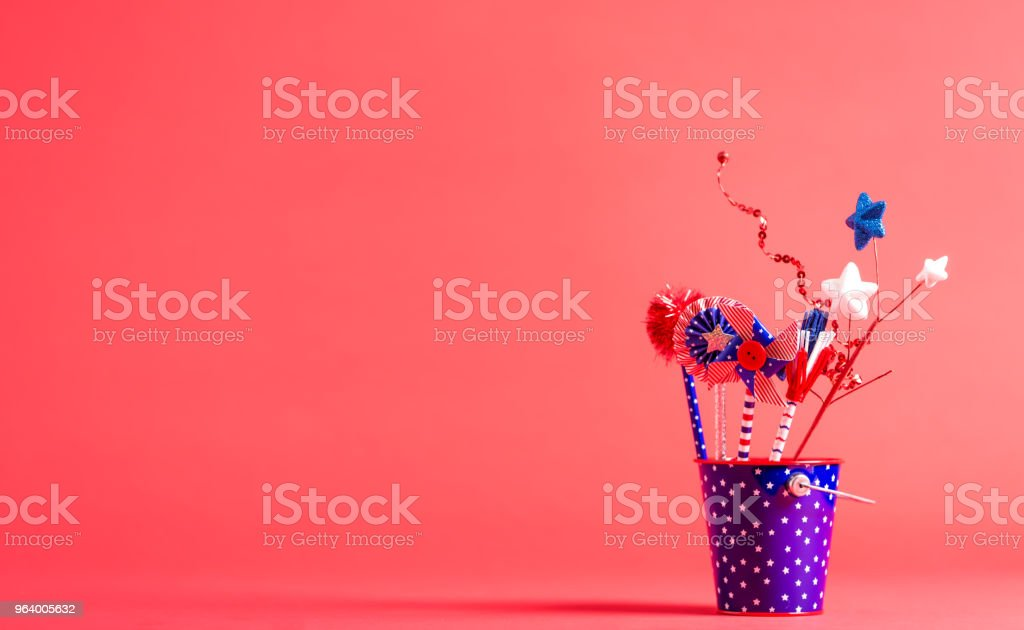 4th of July American decorations - Royalty-free Blue Stock Photo