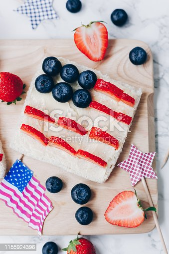 istock 4th of July American flag toast 1155924396
