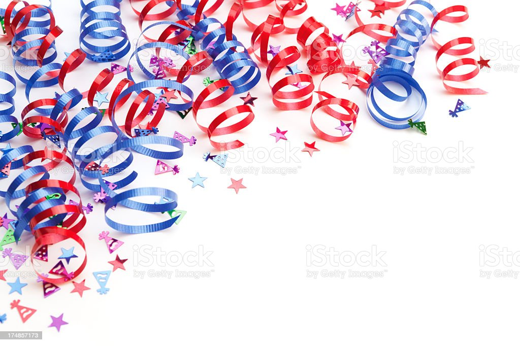 4th of July border stock photo