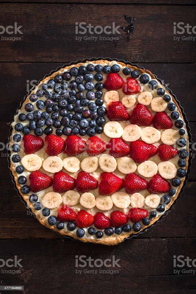 4th of july concept pie stock photo