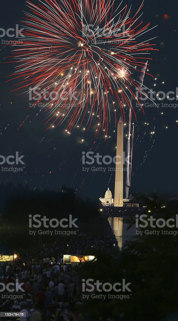 4th of July Fireworks in DC stock photo