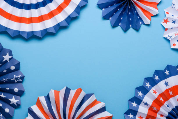 4th of july holiday banner design. - happy 4th of july zdjęcia i obrazy z banku zdjęć