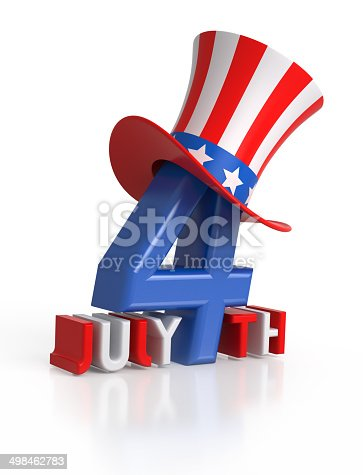 istock 4th of July letters. 498462783