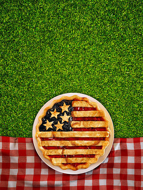 4th of July Picnic stock photo