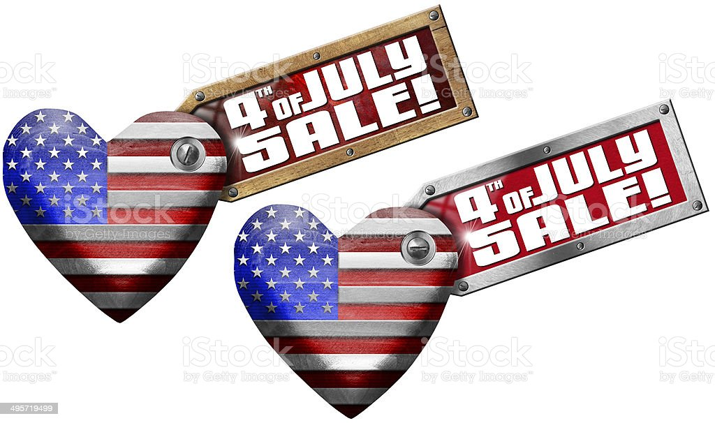 4th of July - Sale stock photo