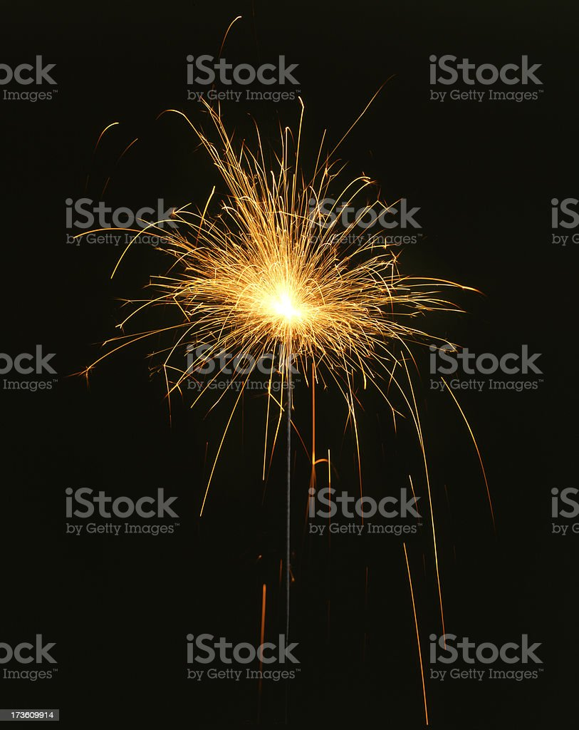 4th of July Sparkler royalty-free stock photo