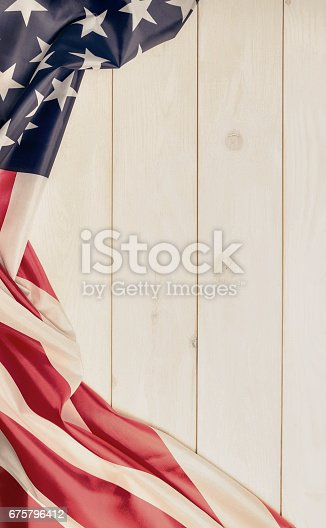 istock 4th of July, the US Independence Day. American flag. 675796412
