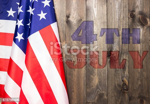 istock 4th of July, the US Independence Day. American flag. 675796496