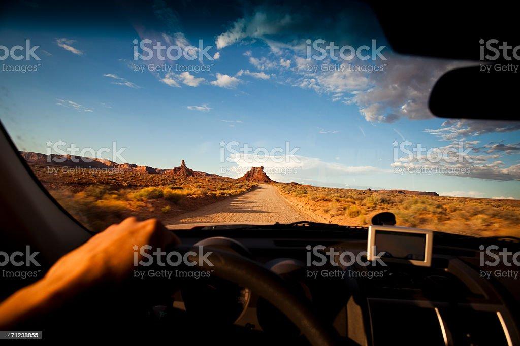 4x4 drives near Valley of the Gods stock photo