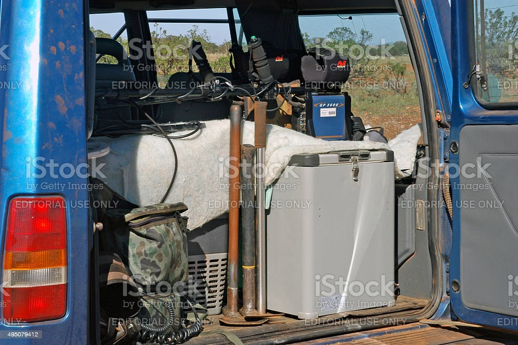 Western Australia, Australia – may 9, 2007: 4x4 gold prospectors...