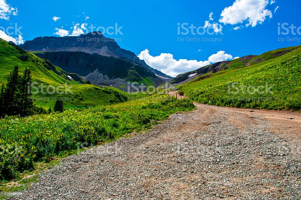 4x4 Road To the Top of the Rocky Mountains stock photo