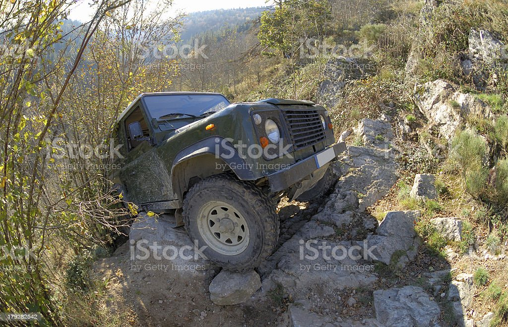 4x4 suv offroading royalty-free stock photo