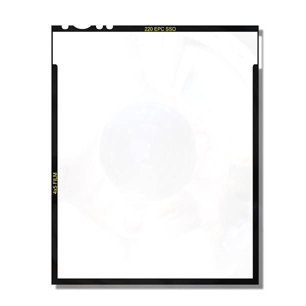 4x5 blank film frame stock photo