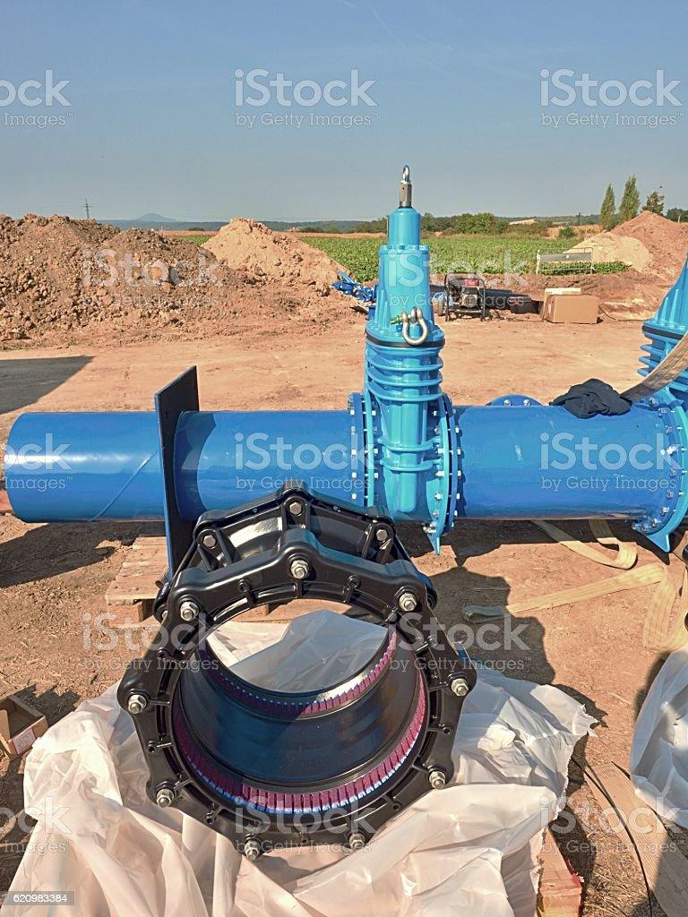 500mm black waga multi joint unit. 500mm  Gate valve foto royalty-free