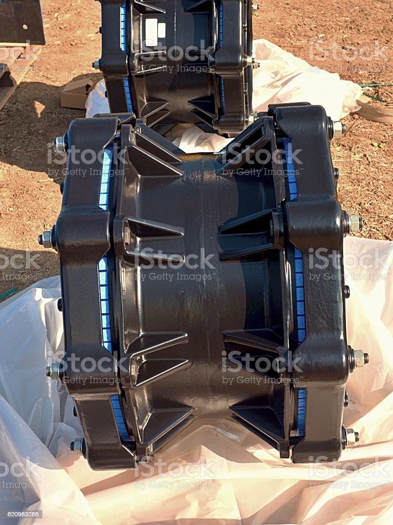 500mm waga multi joint members. Spare parts, repairing of  piping foto royalty-free