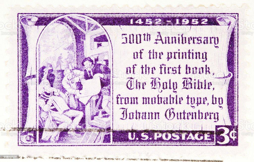 500th Anniversary of bible printing royalty-free stock photo