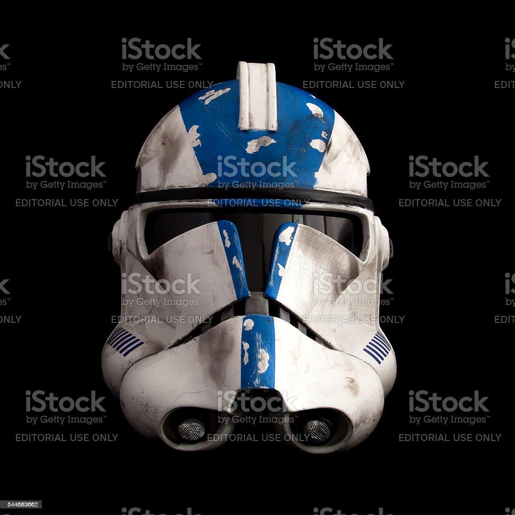 501st clone trooper phase II helmet stock photo