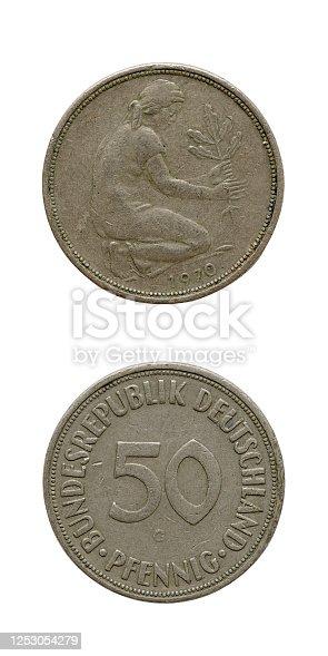 50-Pfennig-Coin, Germany, 1970
