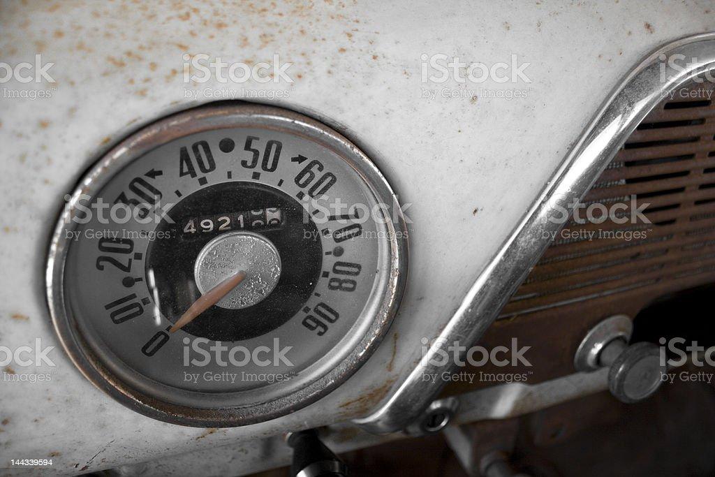 50s Spedometer royalty-free stock photo