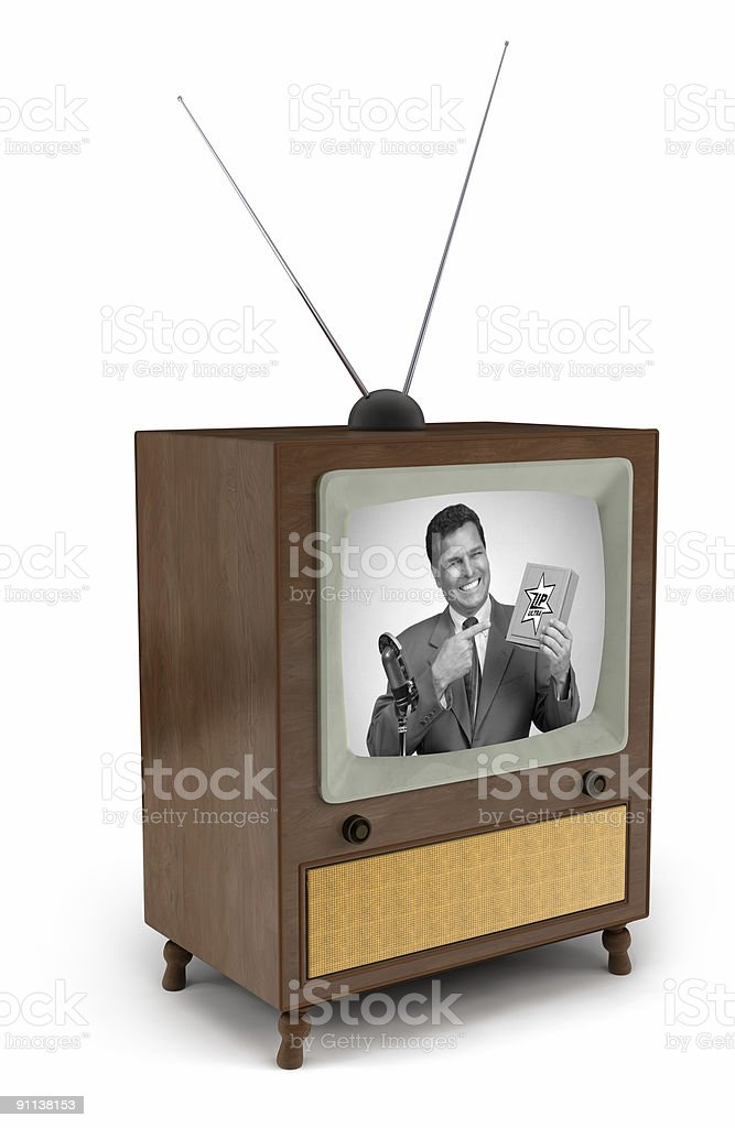50s TV commercial stock photo