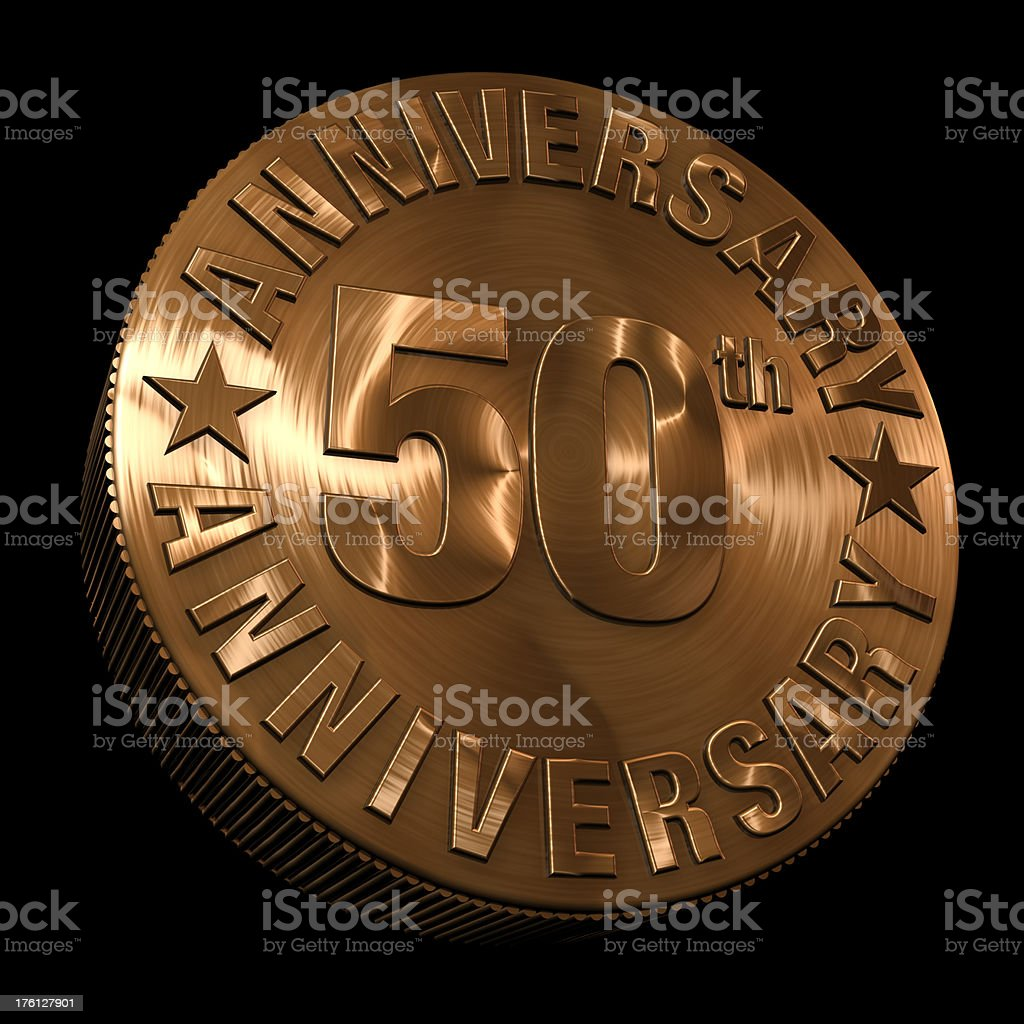 50th anniversary medal stock photo