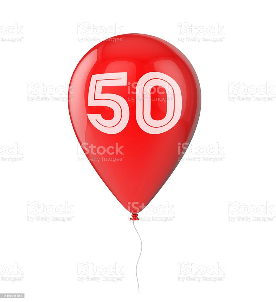 50th Birthday Balloon Stock Photo More Pictures Of