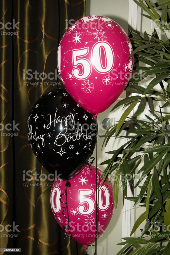 50th Birthday Balloons Royalty Free Stock Photo