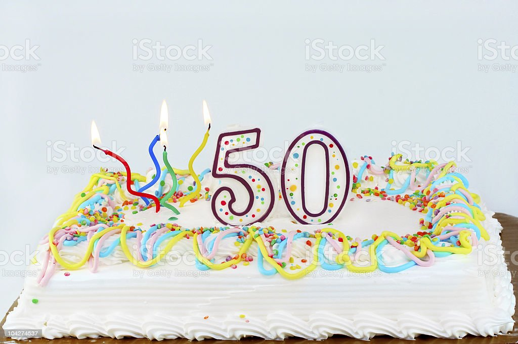 Amazing 50Th Birthday Cake Stock Photo Download Image Now Istock Funny Birthday Cards Online Eattedamsfinfo