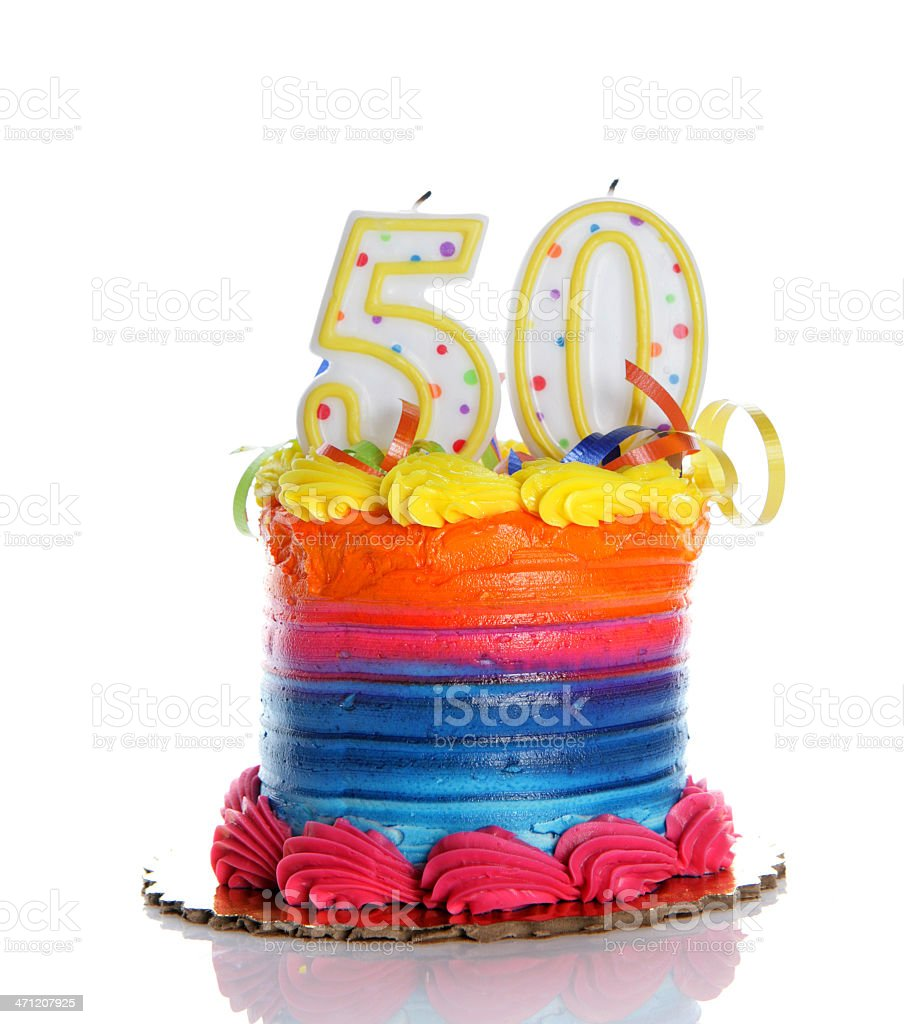 50th Birthday Cake Stock Photo More Pictures Of Baked