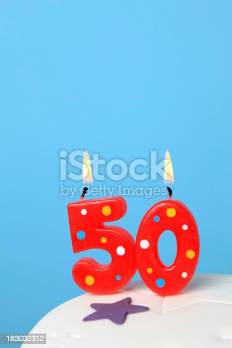 50th Birthday Candles Stock Photo More Pictures Of Anniversary