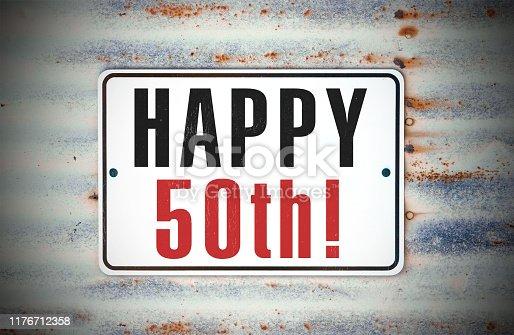 50th Birthday Sign
