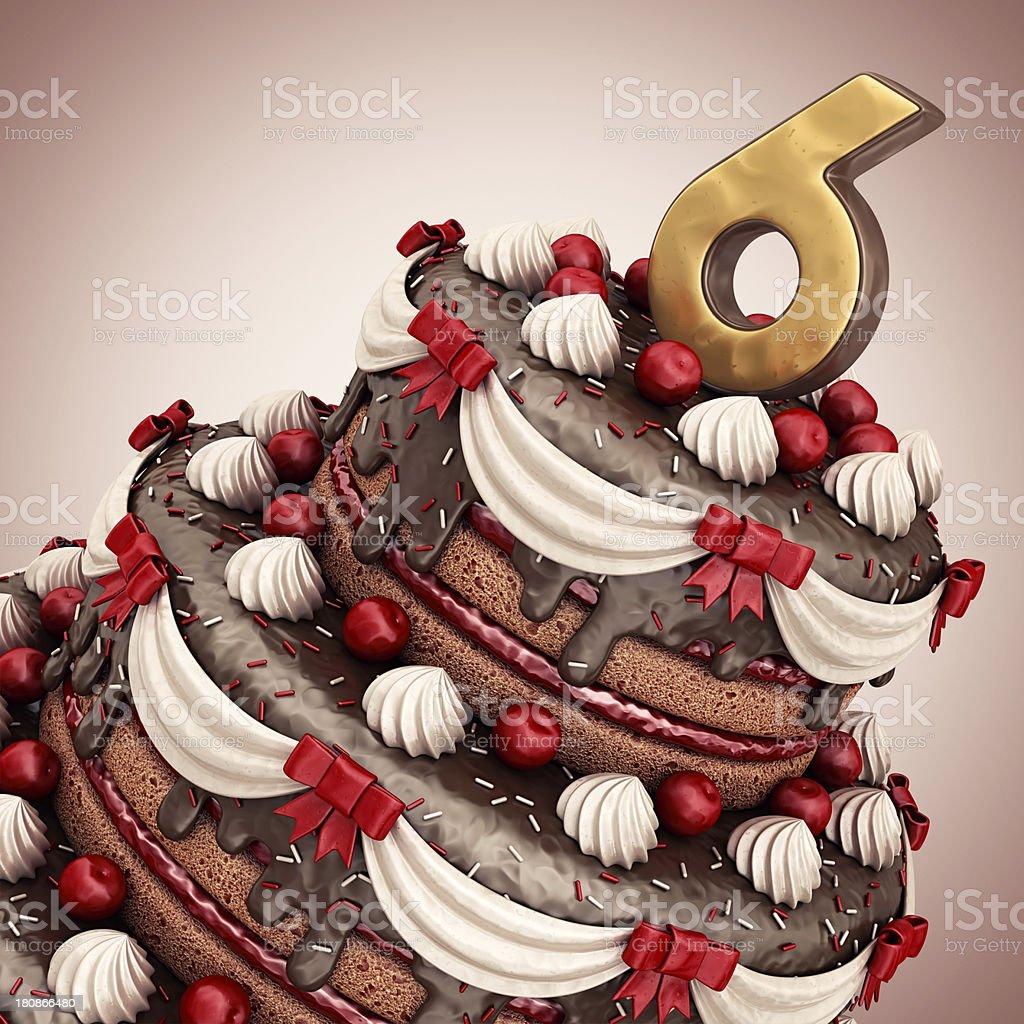 50th birthday/anniversary royalty-free stock photo