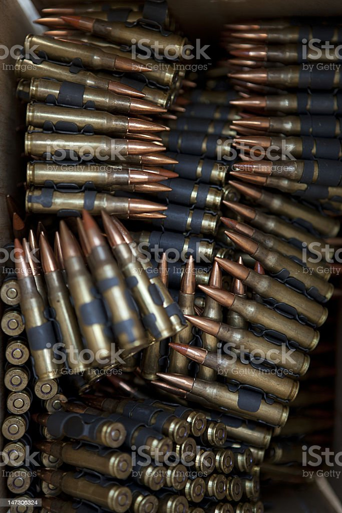 5.56x45mm NATO Tracer Bullets royalty-free stock photo