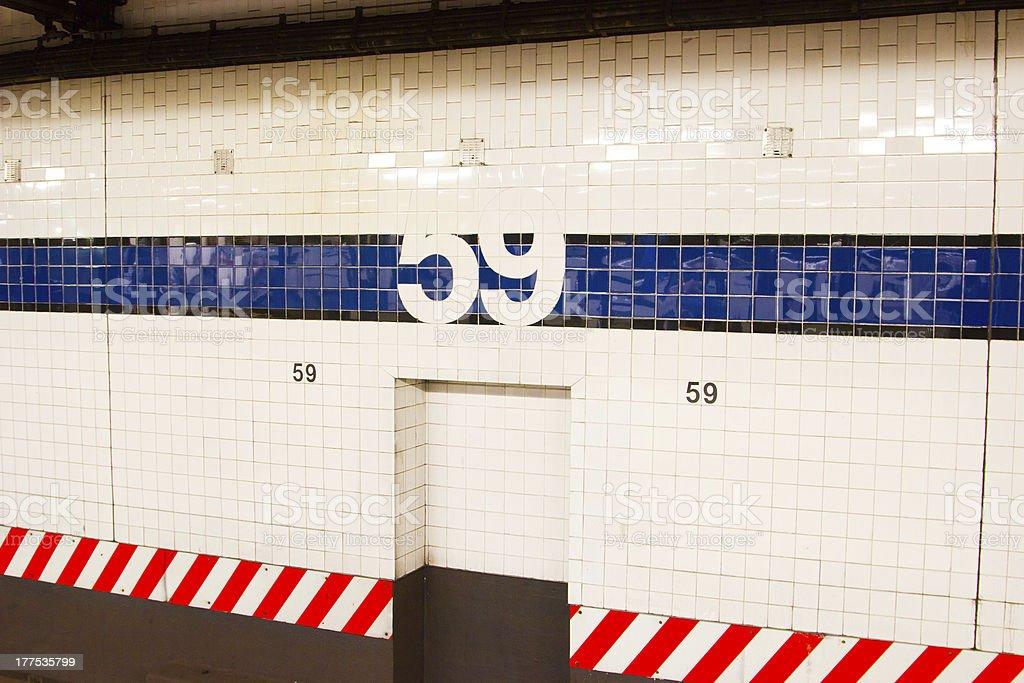 59th Street Subway Station, NYC stock photo