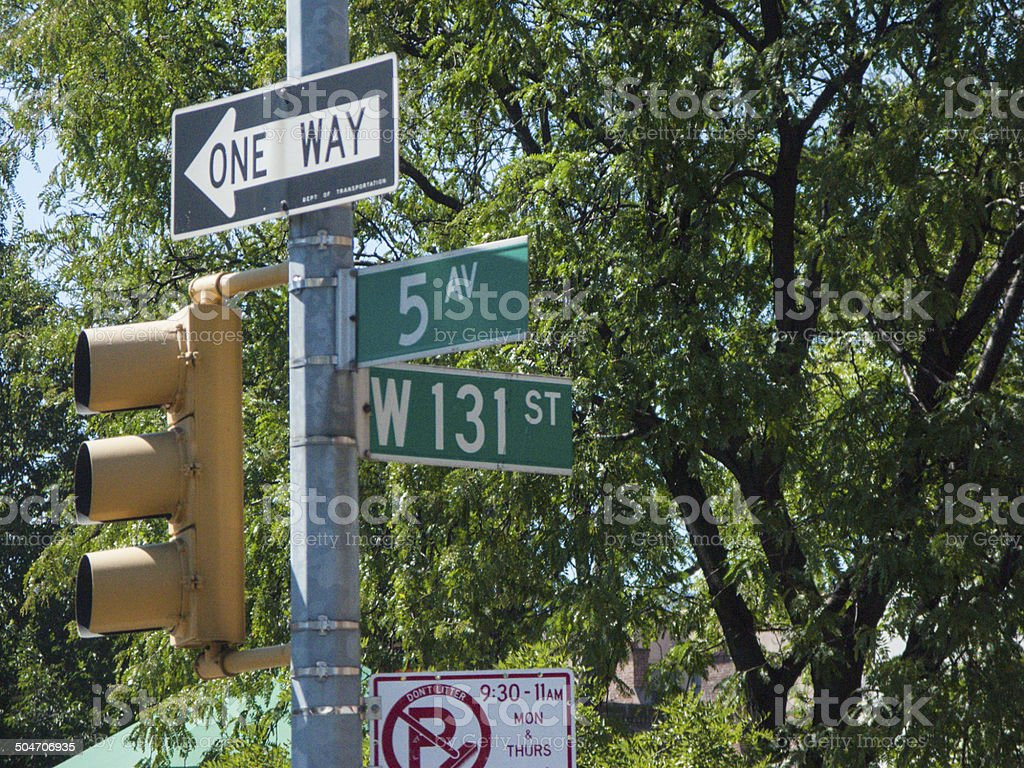 5av and 132st nyc, manhattan stock photo