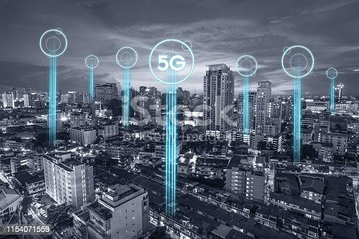 1155541483istockphoto 5g communication network connection for internet concept or technology concept. internet of things 1154071559