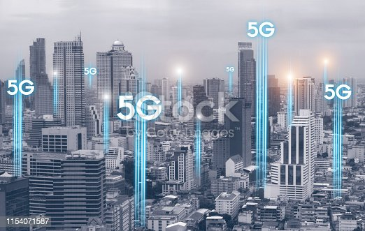 1155541483istockphoto 5g communication network connection for internet concept or technology concept. internet of things 1154071587