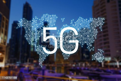 istock 5g concept of internet connection technology. World community and network. Smart city. Network and Connection technology. 5g network mobile data 1143751159